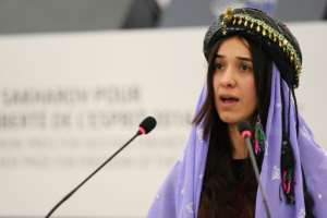Nadia Murad is now UN ambassador for victims of human trafficking.  By FREDERICK FLORIN (AFP)