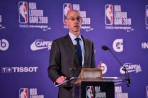 NBA commissioner Adam Silver and FIBA officials announced Saturday they will collaborate on a new 12-team African pro basketball league that begins in January 2020.  By Glyn KIRK (AFP/File)
