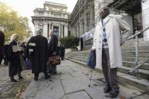Neretse is accused in the murder of 13 people.  By THIERRY ROGE (BELGA/AFP)