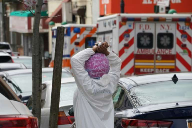 New York City has appealed for licensed medical personnel to volunteer their services..  By Bryan R. Smith (AFP)