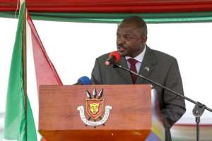 Nkurunziza made the surprise announcement at ceremonies to usher in Burundi's controversial new constitution.  By STR (AFP)
