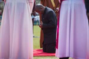 Nkurunziza's handpicked successor Evariste Ndayishimiye, who was sworn in last week, presided over the funeral.  By TCHANDROU NITANGA (AFP)