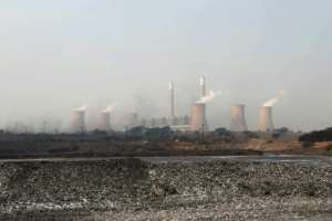 Ninety percent of electricity in South Africa is generated by polluting coal-fired power stations