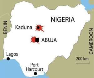 Bombs exploded in Abuja and Kaduna.  By  (AFP/Graphics)
