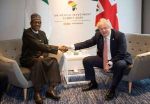 Nigerian President Muhammadu Buhari said Brexit offered an opportunity for increased free trade across the Commonwealth -- and highlighted visas as a key issue.  By Eddie MULHOLLAND (POOL/AFP)