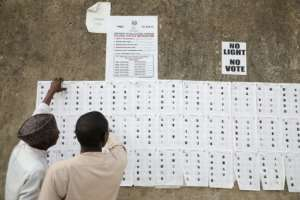 Nigerians had voted Saturday for the second time in a fortnight to decide who would occupy the powerful governor's position in five states.  By Kola SULAIMON (AFP)