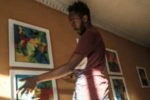 Noah is currently seeking sponsors for an exhibition that would feature Eritrean and Ethiopian artists side-by-side.  By EDUARDO SOTERAS (AFP)