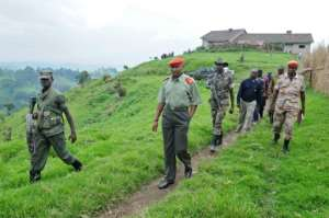 Ntaganda, seen here at a mountain base in Kabati in 2009, was handed 30 years in prison.  By LIONEL HEALING (AFP)