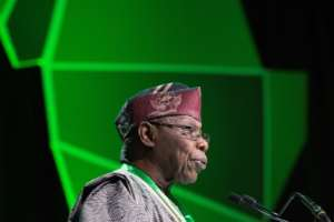Obasanjo said his former deputy Abubakar would be more business friendly that President Muhammadu Buhari.  By RODGER BOSCH (AFP/File)