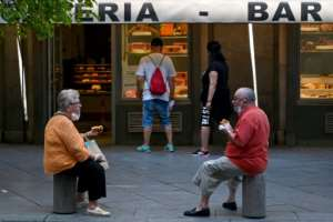Officials in Madrid are considering a return of restrictions after a surge in cases there.  By GABRIEL BOUYS (AFP)