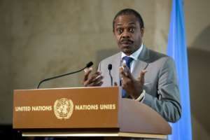 Oly Ilunga resigned as DR Congo's health minister in July after being removed as head of the country's Ebola response team.  By FABRICE COFFRINI (AFP/File)