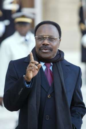 Omar Bongo Ondimba presided over his tropical oil-rich state for nearly 40 years..  By PATRICK KOVARIK (AFP/File)