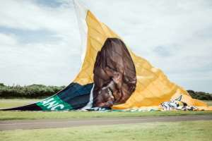 On the up: The ANC hoisted a giant New Year's banner bearing the face of Cyril Ramaphosa, credited with reviving party fortunes after the scandal-hit era of Jacob Zuma.  By RAJESH JANTILAL (AFP)