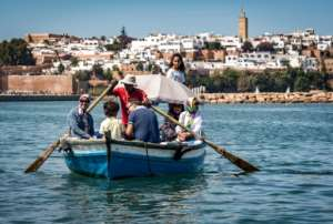 On weekends, the quays of the Bou Regreg still draw crowds of visitors, many of whom take boat tours to the ramparts of the UNESCO-listed medieval fortress where the river empties into the Atlantic Ocean.  By FADEL SENNA (AFP)