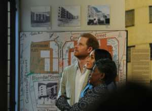 On Monday, the couple visited District Six museum, which documents the expulsion of tens of thousands of non-white Cape Town residents during the apartheid era.  By Henk KRUGER (POOL/AFP)