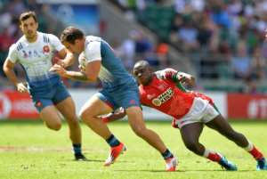 One Kenyan rugby success story comes in the shorter form of the game where their seven-a-side team have competed with the world's best for almost two decades.  By OLLY GREENWOOD (AFP/File)