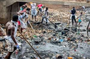 One of the poorest countries on the planet, Sierra Leone wrestles with major problems of infrastructure, such as sewerage, roads and power.  By Saidu BAH (AFP)