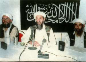 Osama Bin Laden (C), whose Al-Qaeda network claimed responsibility for the Nairobi and Dar es Salaam attacks, lived in Sudan for several years under president Omar al-Bashir.  By HANDOUT (US Attorney for the Southern District of New York/AFP/File)