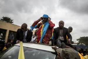 Opposition leader Franck Diongo was released after two years in prison. By JOHN WESSELS (AFP)
