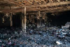 Other businesses have been completely gutted.  By Michele Spatari (AFP)