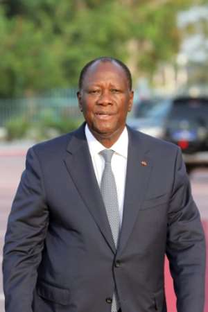 Ouattara had initially said he would not seek a third term.  By Ludovic MARIN (AFP/File)