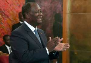 Ouattara has been in office since 2010.  By ISSOUF SANOGO (AFP)