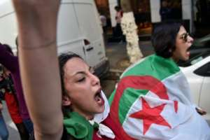 'Our only weapon is the peaceful nature of the demonstrations,' says rights activist Mustapha Bouchachi.. By RYAD KRAMDI (AFP)
