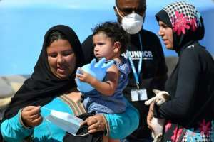 Over 2,000 migrants arrived last week alone, according to the UN Refugee Agency -- more than double the previous week.  By Alberto PIZZOLI (AFP)