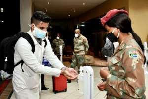 Over 200 Cuban health workers have come to South Africa to help in the fight against coronavirus.  By Elmond Jiyane (GCIS/AFP/File)