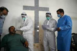 Pakistan has seen more than 200,000 COVID-19 infections during the first wave.  By Aamir QURESHI (AFP/File)