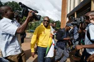 Pastor Evan Mawarire, shown here arriving at the Harare Magistrates Court, became a prominent voice during protests in 2016 when he posted videos on social media criticising the government.  By Jekesai NJIKIZANA (AFP)