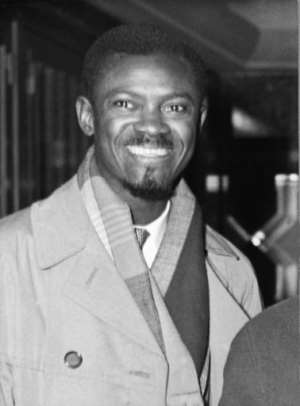Patrice Lumumba, pictured in 1960, is now revered as an independence hero in the Democratic Republic of Congo.  By STAFF (BELGA/AFP/File)