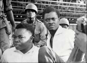 Patrice Lumumba (right) and Joseph Okito (L), vice-president of the Senate, pictured together in November 1960, were executed together in 1961.  By - (AFP/File)