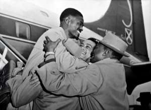Patrice Lumumba, warmly greeted here in Brussels in January, 1960, remains an icon for Congo and for all former colonised countries.  By - (AFP/File)