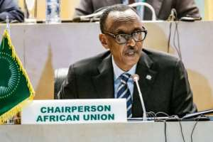 Paul Kagame led efforts to make the African Union less dependent on outside donors.  By EDUARDO SOTERAS (AFP)