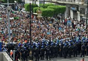 Police detained at least 10 protesters during Tuesday's protests, said an AFP journalist.  By RYAD KRAMDI (AFP)