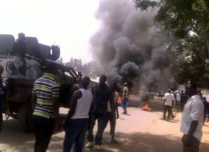 A suicide bombing in Jos in March.  By - (AFP/File)