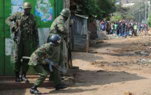 Police denied excessive use of force in clamping down on protesters following the announcement of the election results.  By SIMON MAINA (AFP/File)