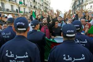 Police were deployed in force, blocking protesters on an avenue near the protest epicentre and making several arrests in the morning, according to witnesses.  By - (AFP)