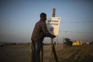 Polls suggest the EFF could double its share of the votes in the general election on May 8. By GUILLEM SARTORIO (AFP)