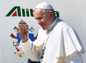 Pope Francis is the first pontiff to visit Morocco since John Paul II in 1985. By FADEL SENNA (AFP)