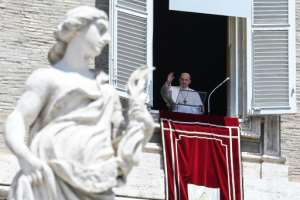 Pope Francis said the worst of the coronavirus crisis was over in Italy as he addressed the faithful for the first time in Saint Peter's Square.  By Andreas SOLARO (AFP)
