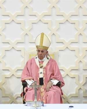 Pope Francis was on a rare visit by a pontiff to the North African state. By Fadel SENNA (AFP)