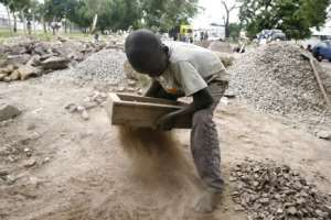 Poverty is widespread in DR Congo -- in a country where many people earn the equivalent of just a few dollars a year, child labour is common.  By ISSOUF SANOGO (AFP)
