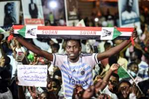 Protesters have accused Sudan's generals, who took power after ousting longtime president Omar al-Bashir, of clinging to power.  By Mohamed el-Shahed (AFP)