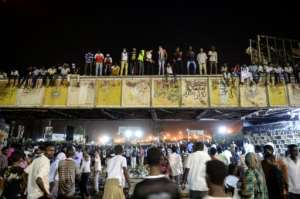 Protesters have been encamped outside Sudan's army headquarters for more than a month. By Mohamed el-Shahed (AFP/File)