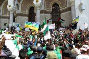Protesters have rejected a July 4 presidential election announced by the interim government. By - (AFP)