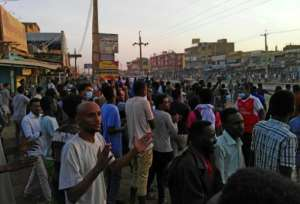 Protesters take to the streets in the Sudanese capital Khartoum for an anti-government rally on January 15, 2019.  By STRINGER (AFP/File)