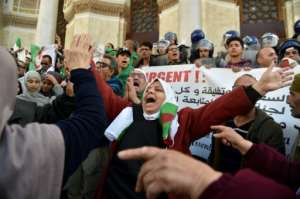 Protesters want Algeria's whole ruling elite to step aside.  By RYAD KRAMDI (AFP)