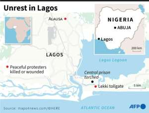 Protests and bloodshed in Lagos.  By Gillian HANDYSIDE (AFP)